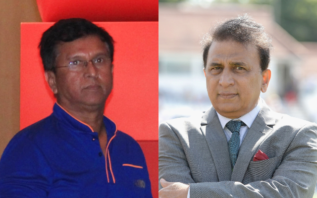 Kiran More and Sunil Gavaskar