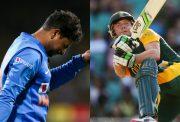 Kuldeep Yadav and AB de Villiers