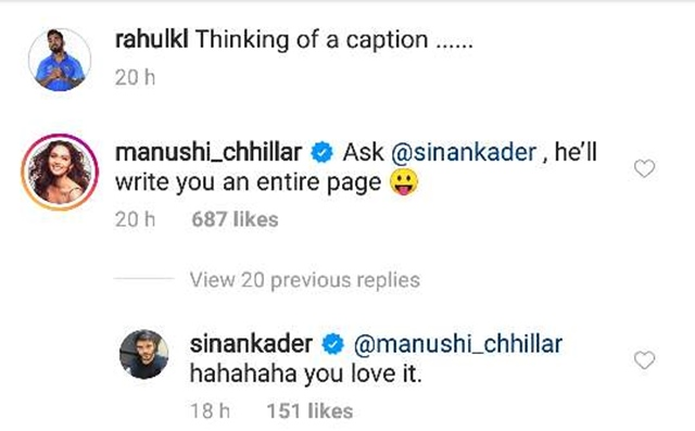 Manushi Chillar's comment