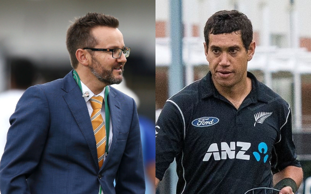 Mike Hesson and Ross Taylor