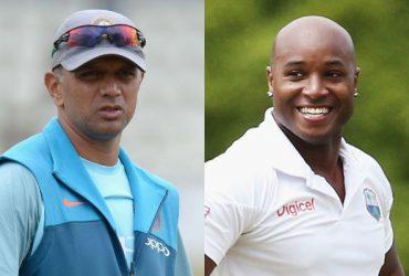 Rahul Dravid and Tino Best