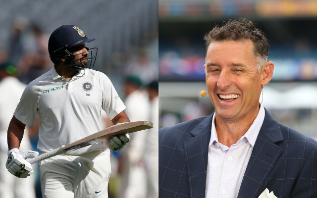 Rohit Sharma and Michael Hussey