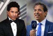 Sachin Tendulkar and Harsha Bhogle