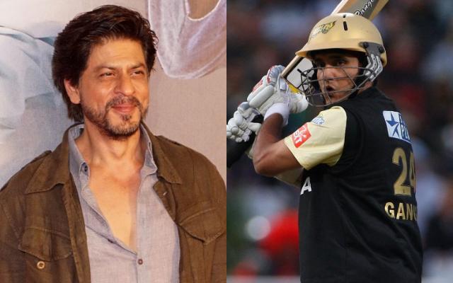 Shah Rukh Khan and Sourav Ganguly