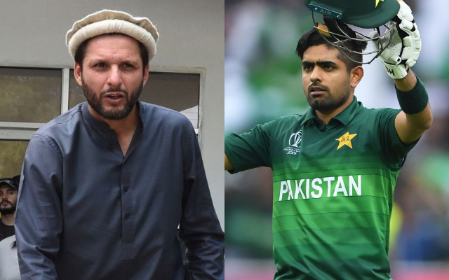 Shahid Afridi and Babar Azam