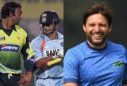 Shoaib Akhtar, Sachin Tendulkar and Shahid Afridi