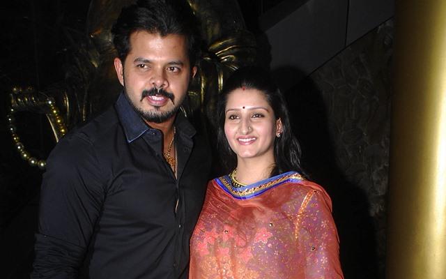 Sreesanth along with his wife Bhuvneshwari Kumari