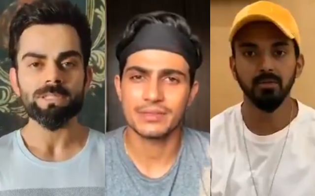 Virat Kohli, Shubman Gill and KL Rahul