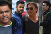 Waqar Younis, Manoj Tiwary, Shoaib Akhtar and Salman Butt