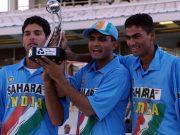 Yuvraj Singh, Sourav Ganguly and Mohammad Kaif