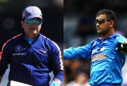 Abhay Sharma and MS Dhoni
