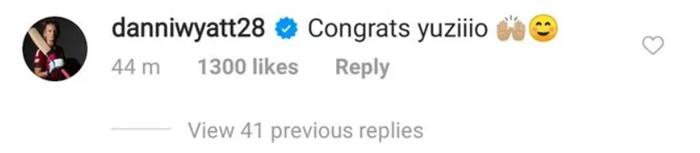 Danielle Wyatt's comment