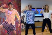 David Warner & Candice dancing on Mahesh Babu's 'Mind Block'