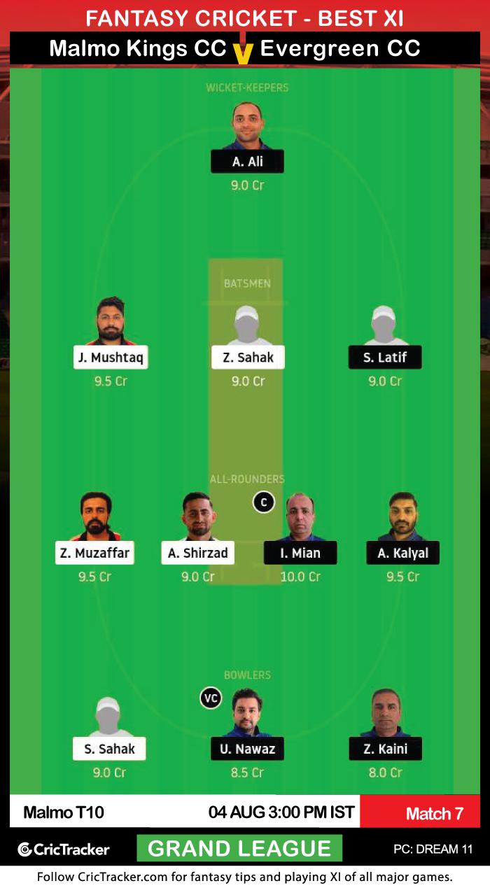 ECS-T10-Malmo-2020-–-Match-7,-Malmo-Kings-Cricket-Club-vs-Evergreen-Cricket-Club-Dream11-Fantasy-GL