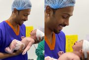 Hardik Pandya and his new born baby