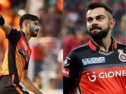 Khaleel Ahmed and Virat Kohli