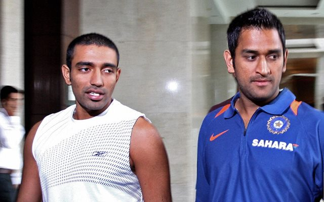 MS Dhoni and Robin Uthappa