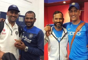 MS Dhoni and Sridhar