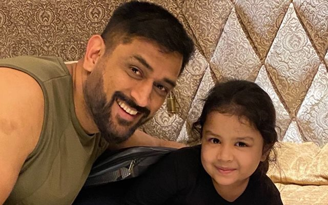 MS Dhoni and Ziva