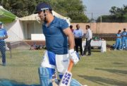 MS Dhoni in Ranchi nets