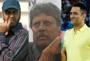 Maninder Singh, Kapil Dev and MS Dhoni