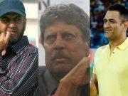 Maninder Singh, Kapil Dev and MS Dhoni