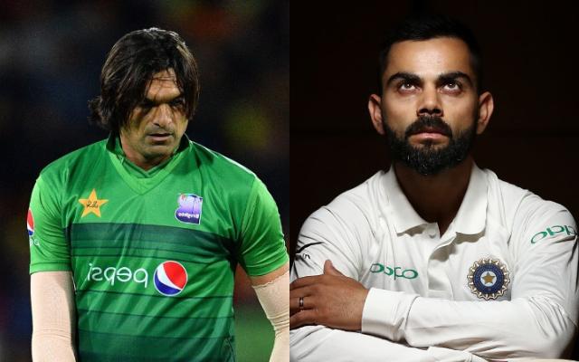 Mohammad Irfan and Virat Kohli