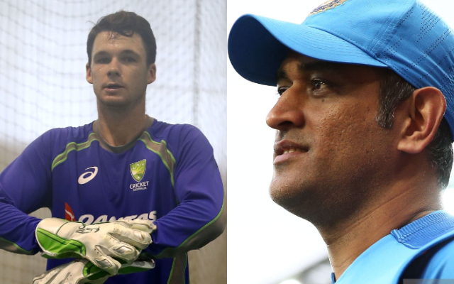Peter Handscomb and MS Dhoni