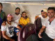 Piyush Chawla, Suresh Raina, Monu Singh, MS Dhoni, Deepak Chahar and Karan Sharma
