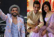 Ranveer Singh, Yuzvendra Chahal and Dhanashree Verma