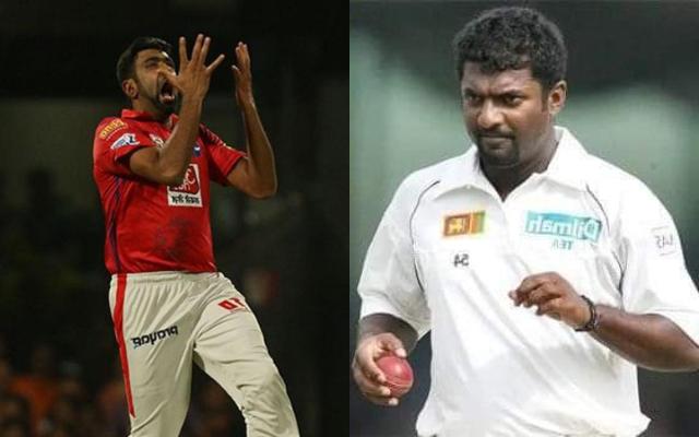 Ravichandran Ashwin and Muttiah Muralitharan