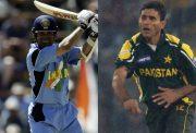 Sachin Tendulkar and Abdul Razzaq
