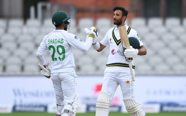 Shadab Khan and Shan Masood
