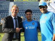 Shane Warne, Kuldeep Yadav and Anil Kumble