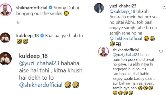 Shikhar Dhawan, Yuzvendra Chahal and Kuldeep Yadav's comment