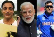 Shoaib Akhtar, MS Dhoni and Narendra Modi