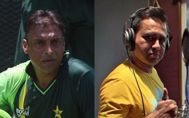 Shoaib Akhtar and Aakash Chopra