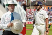 Simon Taufel and Sachin Tendulkar