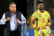 Suresh Raina and N Srinivasan