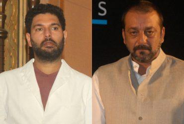 Yuvraj Singh and Sanjay Dutt
