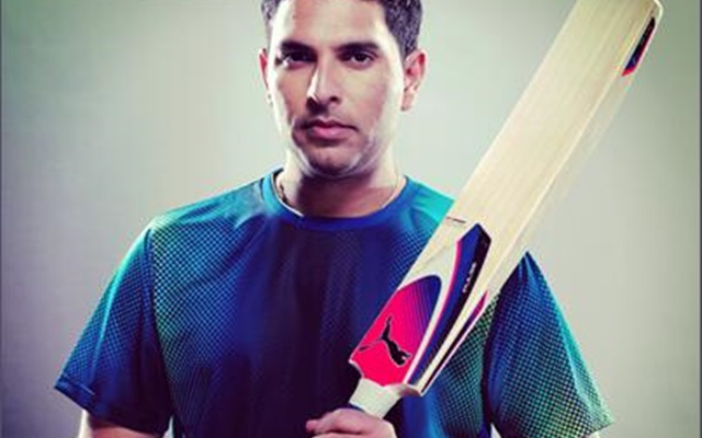 Yuvraj Singh with Puma bat