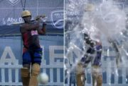 Andre Russell glass shatter