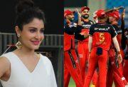 Anushka Sharma and RCB team