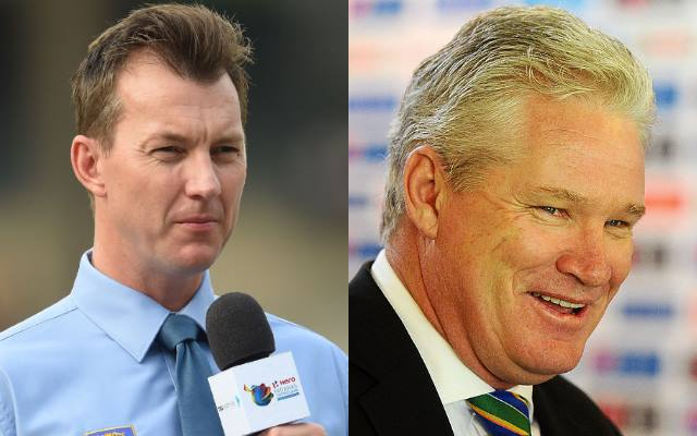 Brett Lee and Dean Jones