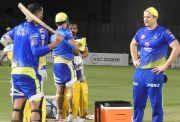 CSK practice session.