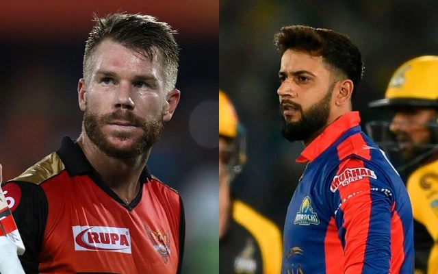 David Warner and Imad Wasim