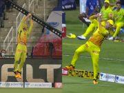 Faf du Plessis' catch