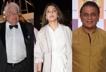 Farokh Engineer, Anushka Sharma and Sunil Gavaskar