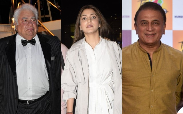 Farokh Engineer, Anushka Sharma and Sunil Gavaskar