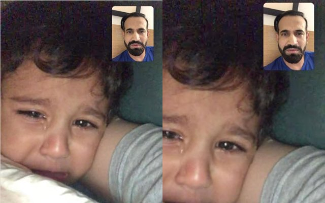Irfan Pathan and his son